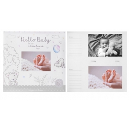 Hugs & Kisses Newborn Baby Photo Album Holds 200 6x4 Photos Babyshower Keepsake