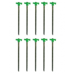 Pack Of 10 SupaGarden Tent Awning Rock Pegs Camping Ground Pegs 7mm x 255mm