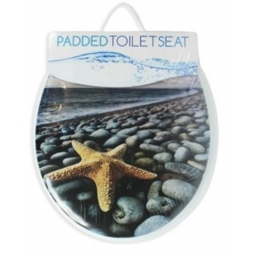 Starfish Soft Padded Standard Size Toilet Seat High Density Foam Cushioning