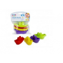 First Step Pack Of 4 Small Bath Boats For Extra Bathtime Fun Toys 3 Month+