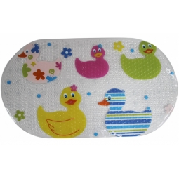 Blue Canyon Quackers Colourful Duck PVC Childrens Fun Bath Mat 69cm x 38cm Oval