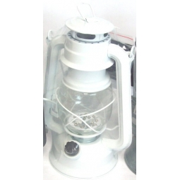 White Lumineo Warm White LED Battery Camping Garden Lantern Indoor Outdoor