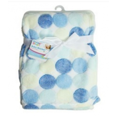Circles Fleece Baby Blanket Luxury Unisex Soft for Babies Newborn First Steps