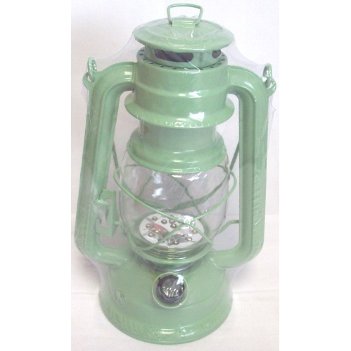 Green Lumineo Warm White LED Battery Camping Garden Lantern Indoor Outdoor