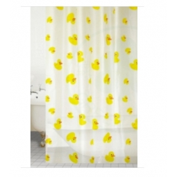 Blue Canyon Peva Rail Ring Shower Curtain 180cm x 180cm Washable - Yellow Duck