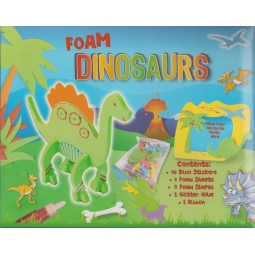 Anker Foam Dinosaurs Craft Pack Make Your Own Dinosaur Foam Shapes Glitter Stickers