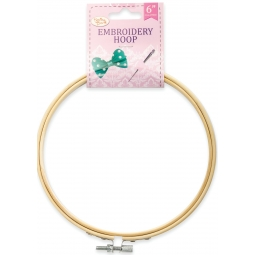 Sewing Box Wooden Embroidery Hoop Tool 6 Inch 15cm Helps Fabric From Puckering
