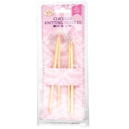 Sewing Box Circular Knitting Needles Pack Of 2 3.5MM & 5MM For Seamless Knitting