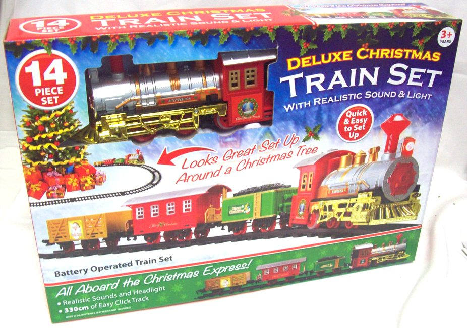 Christmas Train Set.Details About Christmas Train Set