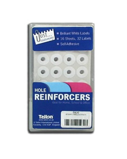 NEW Hole Page Reinforces Labels Includes 512 Stickers Ideal For Punched Paper