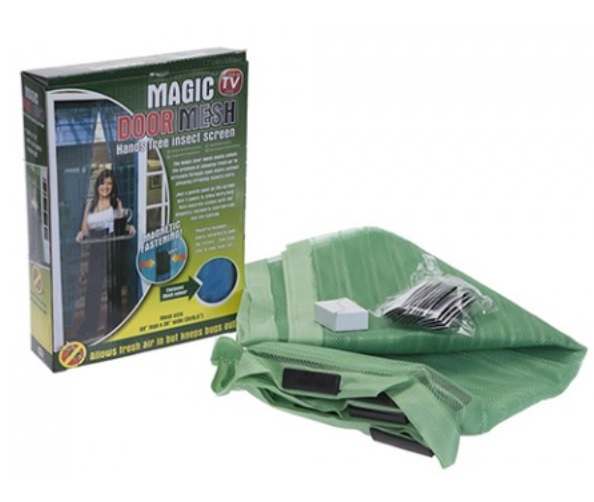 Magic Hands Free Magnetic Fly Door Mesh Curtain Insect Screen 83 x 39 Inch Green