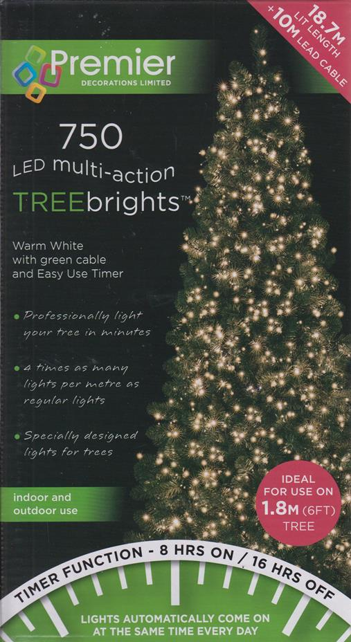 Details About 750 Led Multi Action 6ft Christmas Tree Cluster Lights Timer Warm White