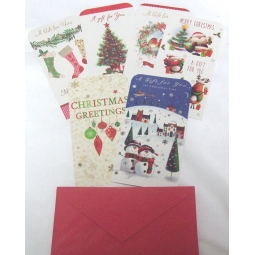 Traditional Christmas Money Voucher Gift Card Wallets Card With Envelopes
