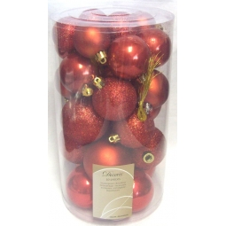 30 Autumn Red Baubles