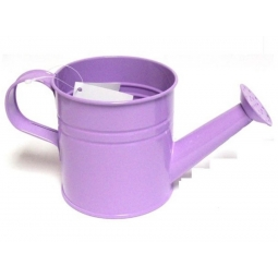 Pastel Coloured Kids Childrens Small Zinc Metal Watering Can Plant Pot Tin Lilac