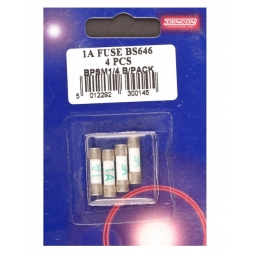 Dencon Pack Of 4 1 Amp Fuse BS646 Electrical Household Spares Plug Fuses