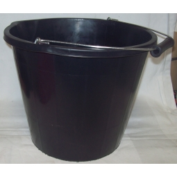 Plastic 3 Gallon Builders Cleaning Portable Storage Bucket