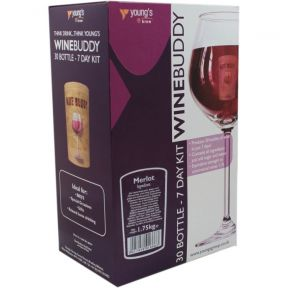 Wine Buddy Home Brewing Kit Make Your Own Wine Makes 30 Bottles - Merlot