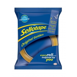 Sellotape Original Golden 24mm x 50m Clear Sticky Packing Parcel  Strong Tape
