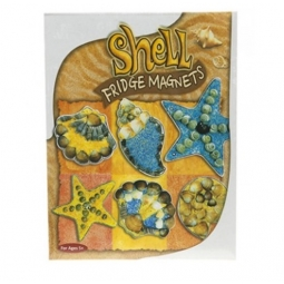 Make Your Own Sea Shell Fridge Freezer Magnets Kids Sand Art Craft Kit Assorted