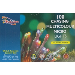 100 Chasing Micro Lights Multicolour Indoor Christmas String Lights 100 Bulbs 5M