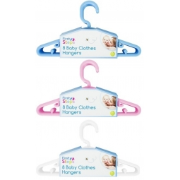 Baby Kids Small Coat Clothes Hangers Plastic Wardrobe Hanger Blue