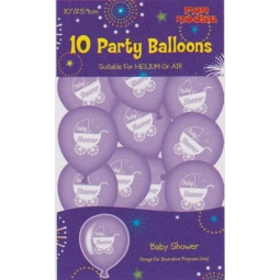 10 Party Balloonns, Baby shower Balloons 10