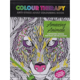 Colour Therapy Anti Stress Relax Adult Colouring Book 64 Pages Amazing Animals