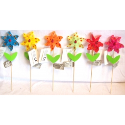 Decorative Mini Garden Windmills Multi Coloured With Ladybird Center