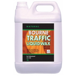 Natural Bourne Traffic Liquid Wax Floor Wax Cleans & Protects 5L
