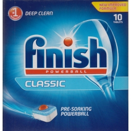 Finish Powerball Classic Dishwasher Cleaning Tablets Deep Clean - 10 Tablets
