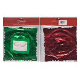 Premier Foil Garland Christmas Decoration - Green & Red 2.7M x 20cm