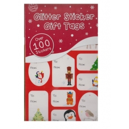 Sticker Book 75 Foil Self Adhesive Christmas Gift Tag Labels Cute