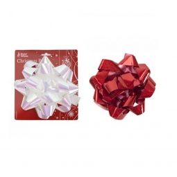 Large Holographic Foil Self Adhesive Gift Parcel Bow 17cm