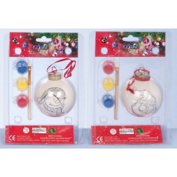 Paint Your Own Christmas Tree Bauble With Paints Santa Or Snowman 7cm