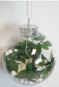 Set Of 3 Clear Decorative Shatterproof Christmas Tree Foliage Garland Bauble 8cm