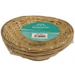 3 x Natural Small Woven Bamoboo Baskets Oval Wicker Storage Bread Fruit Snack Bowls
