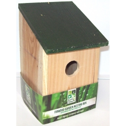 Traditional Fir Wood Bird Nesting Box Tree Shed Garage Wall Hang Bird House