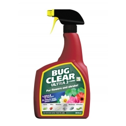 Bug Clear Ultra 2in1 Trigger Bug Killer Pest Control For Shrubs & Flowers 800ml
