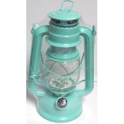 Mint Green Lumineo Cool White LED Battery Camping Garden Lantern Indoor Outdoor