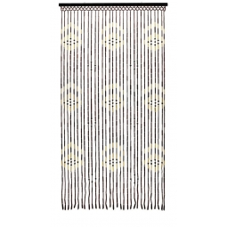 Beaded Bamboo Door Curtain 31 Strands Summer Fly Curtain 180 x 90cm-Dots