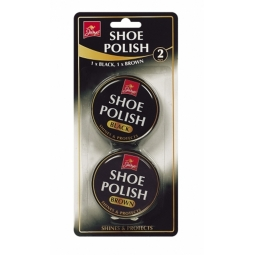 2 x Tins of Jump Black & Brown Shoe Polish 40g of each Shines & Protects Boots