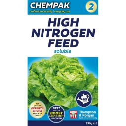 Chempak No.2 High Nitrogen Green Vegetable Leaf Soluble Feed Fertiliser 750g