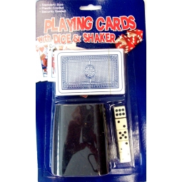 Playing Cards Wth 5 Dice And Shaker Set - Standard Sized Cards