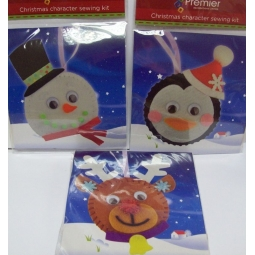 Set Of 3 Premier Cute Christmas Character Face Sewing Craft Kit Stocking Filler
