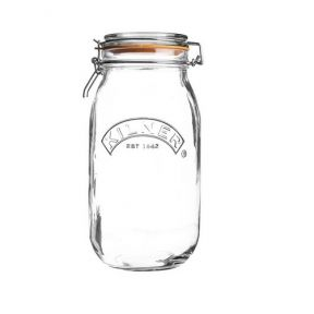 Kilner 2L Round Clip Top Glass Food Storage Preserve Jar Canister Pot 2000ml