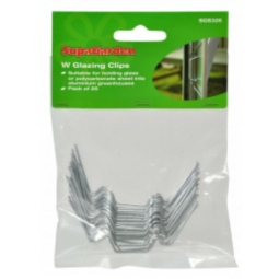W Glazing Clips