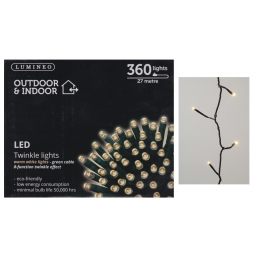 Lumineo Indoor & Outdoor LED Twinkle String Lights 360 13.5M LED's - Warm White