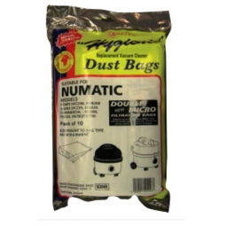 10 NUMATIC HENRY HOOVER VAC VACCUM CLEANER BAGS NVM 1C 1B JAMES