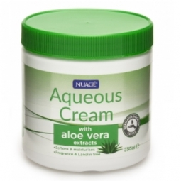 Nuage Aqueous Moisturising Cream Aloe Vera Extracts Fragrance Lanolin Free 350ml